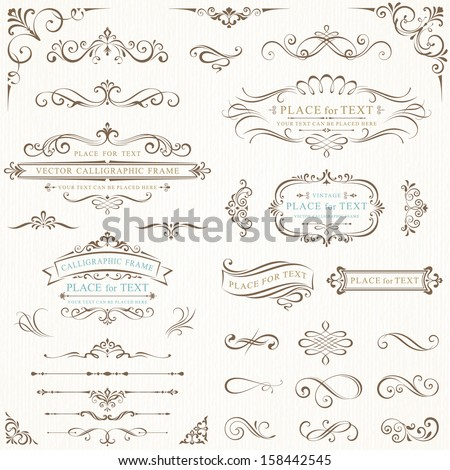 Ornate frames and scroll elements. - Shutterstock ID 158442545