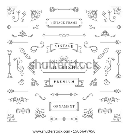 Ornate frames and scroll elements. - Vector