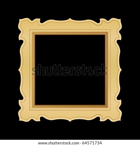 ornate gold frame on black - stock vectorOrnate Gold Frame Vector