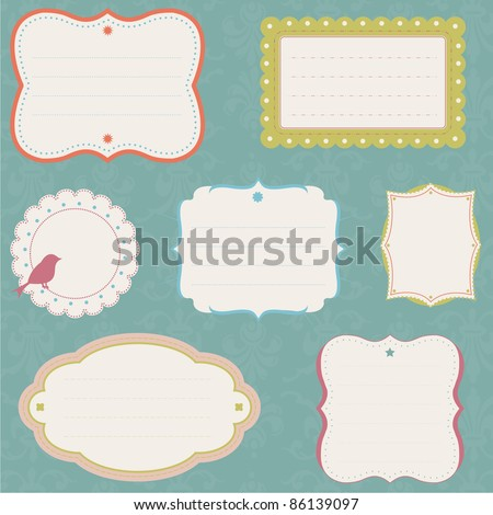 Ornate Label Collection, fully editable vector illustration.