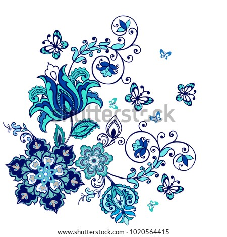 ornate ornament with fantastic