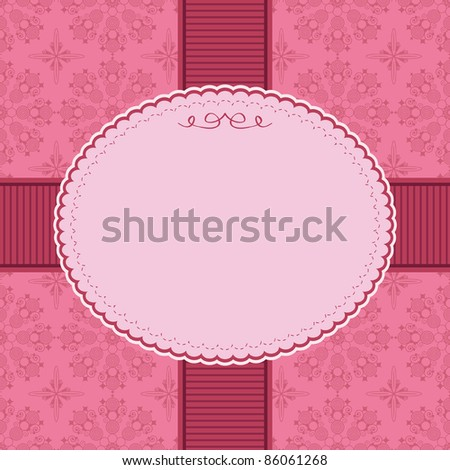 ornate pink frame decoration with space for text