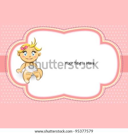 Ornate Pink Polka Dot Bubble Baby Frame
