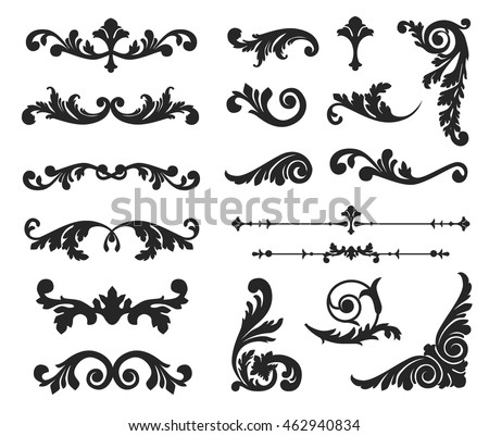 Vintage Ornamental Dividers Download Free Vector Art Stock Delectable Decorative Designs For Borders