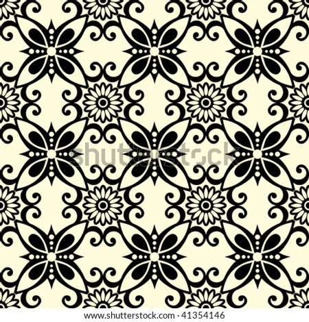 ornate seamless pattern, vector illustration