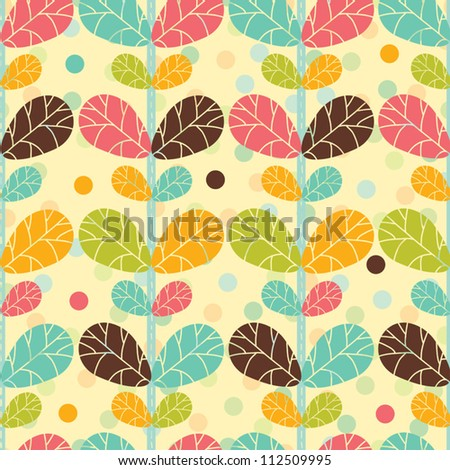 Ornate seamless pattern with the leaves. Seamless pattern can be used for wallpaper, pattern fills, web page background, surface textures.