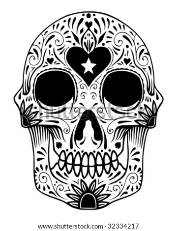 sugar skull tattoo. sugar skull tattoo. sugar