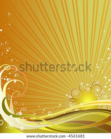Ornate sunny background