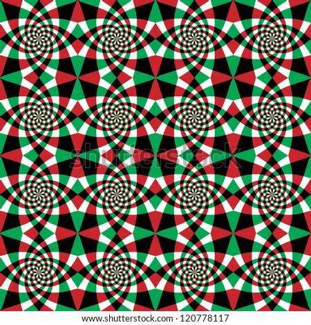 Ornate swirls seamless pattern, vector background.
