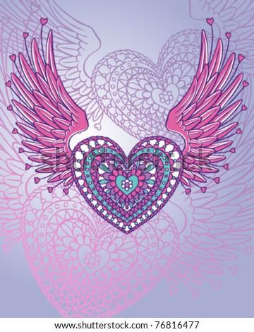 Ornate Wing Heart