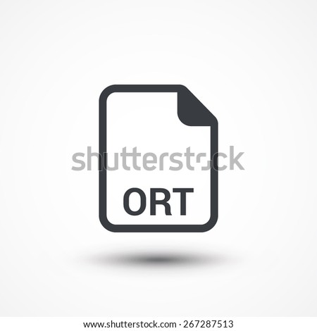 ORT text file extension icon