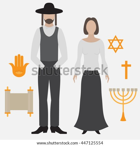 orthodox jew  man and woman