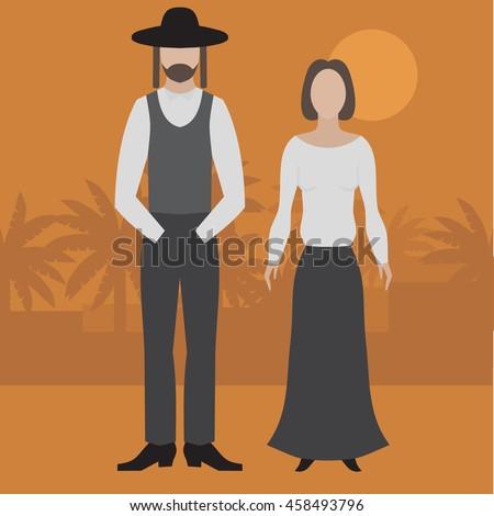 orthodox jew  man and woman