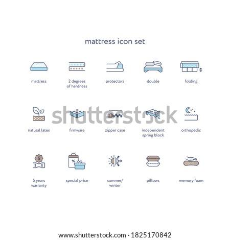 orthopedic mattress linear icon