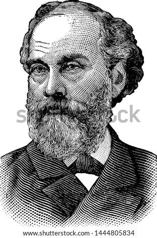 Orville H. Platt, vintage illustration