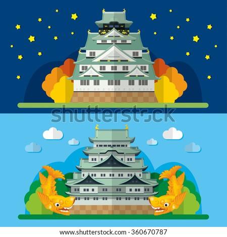 osaka castle and nagoya castle