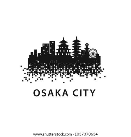 osaka city skyline landscape
