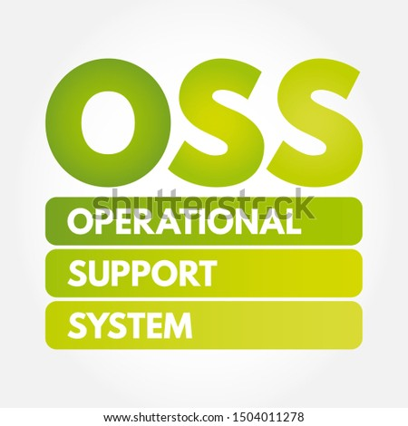 OSS - Operational support system acronym, technology concept background
