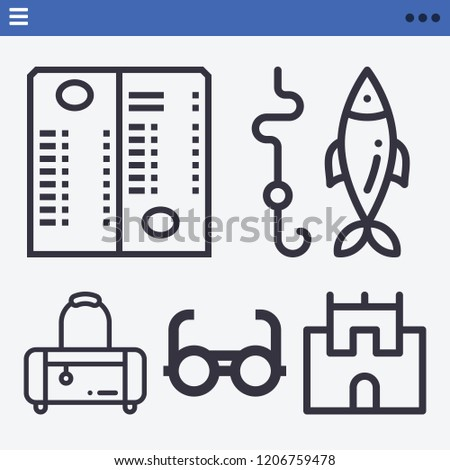 other related outline vector