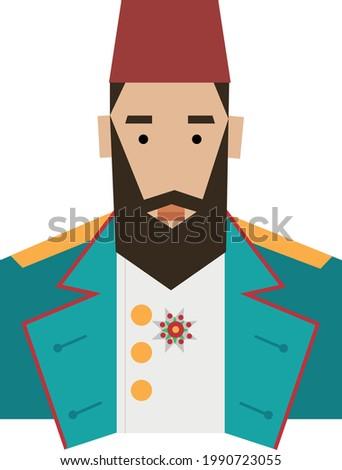 Ottoman Empire Pasha Portrait Character