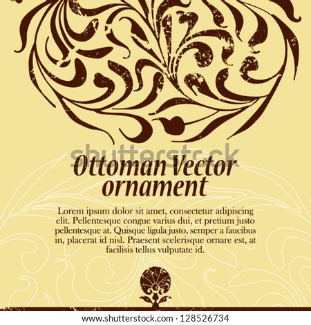 ottoman ornament - stock vector