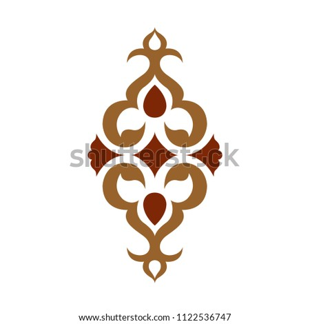 Ottoman period vector motif drawing