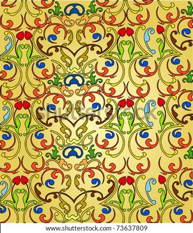 ottoman seamless color wallpaper vector design on light background