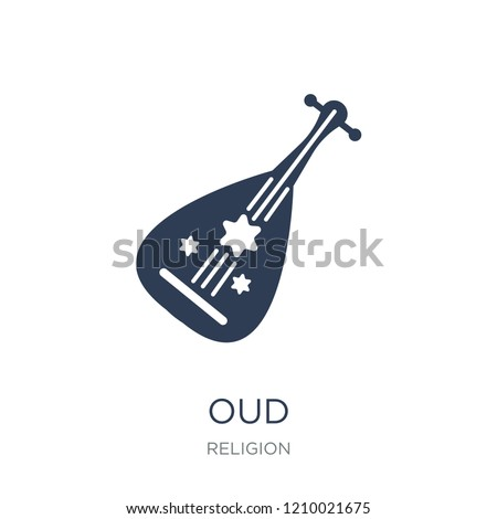 Oud icon. Trendy flat vector Oud icon on white background from Religion collection, vector illustration can be use for web and mobile, eps10