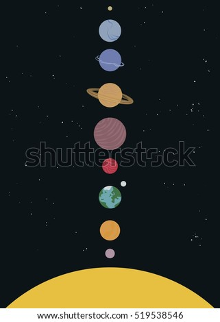 our solar system with all the