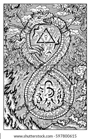 ouroboros  uroboros  serpent or