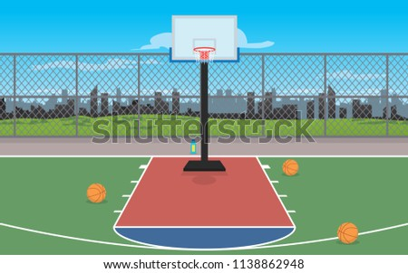 Out door basketball court