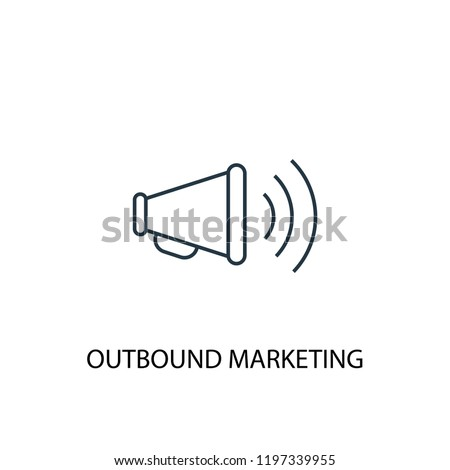 outbound marketing concept line icon. Simple element illustration. outbound marketing concept outline symbol design. Can be used for web and mobile UI/UX