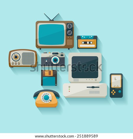 outdated technology flat