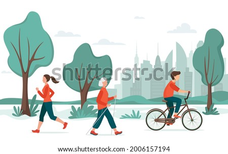 outdoor activity people in the