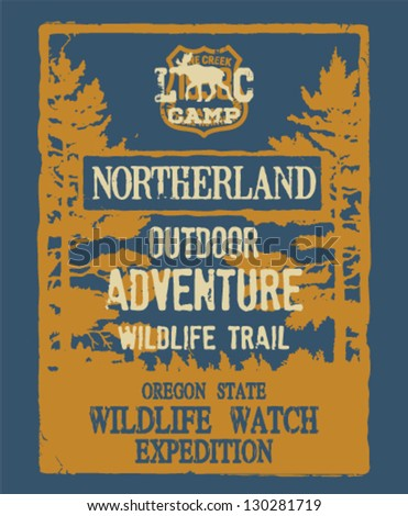 outdoor adventure   artwork for