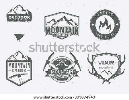 outdoor adventures icons