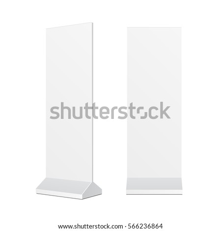 Outdoor Advertising POS POI Stand Banner Or Lightbox. Illustration Isolated On White Background. Mock Up Template Ready For Your Design. Vector EPS10