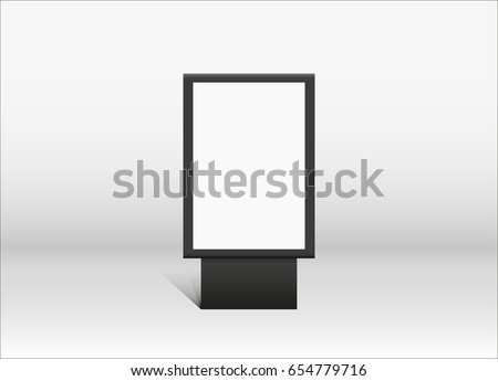 Outdoor advertising stand banner. Illustration isolated on background. Graphic concept for your design. Blank advertising billboard, isolated white background, 3d rendering
