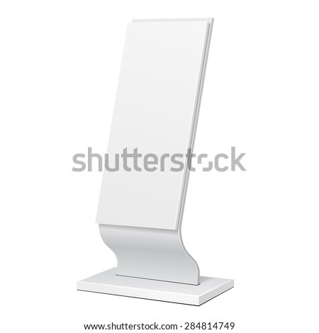 Outdoor Advertising Stand Banner Shield Display, Advertising. Illustration Isolated On White Background. Vector EPS10