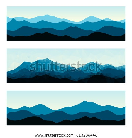 outdoor banners with mountain