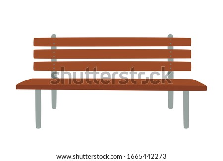 outdoor bench vector
