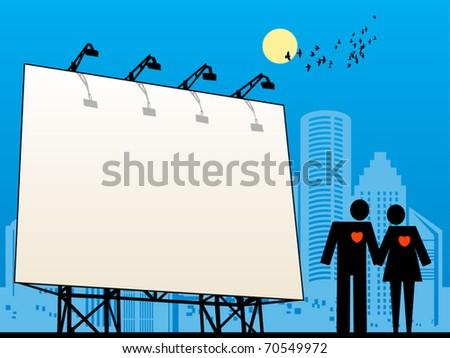 Outdoor billboard, vector illustration