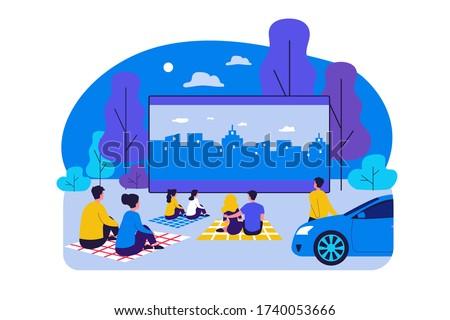 outdoor cinema theater big