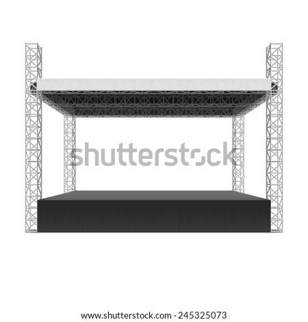 outdoor concert stage  truss