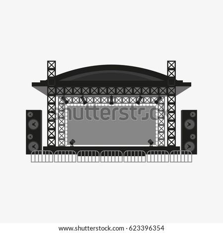 outdoor concert stage vector