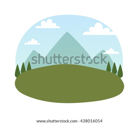 outdoor landscape nature vector
