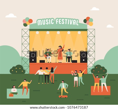 outdoor music festival concept