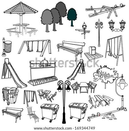 outdoor park vector elements