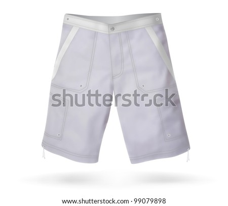 Outdoor Short pants blank template.