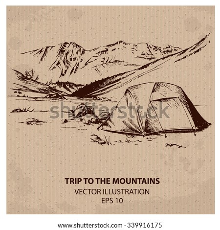 outdoor trip to the mountains